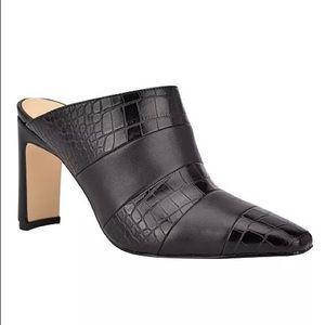 Women's Nine West Iella Clog, Size 7.5 M - Black